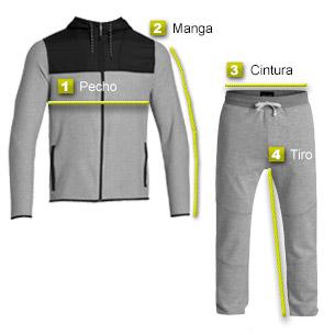 1- Pecho Chaqueta  Medir sobre una chaqueta que le guste cómo le queda 78019a8fb75d