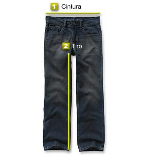 1- Cintura  Medir sobre un pantalón abrochado sobre una superficie  horizontal (una mesa 55b0cf6b14f5