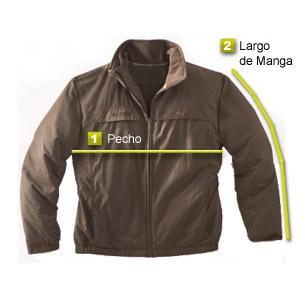 1- Pecho  Medir sobre una prenda de abrigo que le guste cómo le queda 19bc6b167d6f