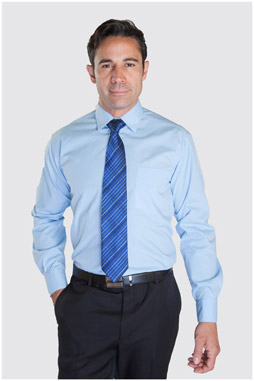 Camisas, Vestir Manga Larga, 104226, CELESTE