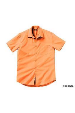Camisas, Vestir Manga Corta, 104227, NARANJA