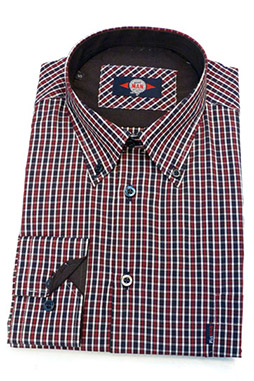 Camisas, Sport Manga Larga, 106169, GRANATE