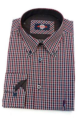 Camisas, Sport Manga Larga, 106176, GRANATE