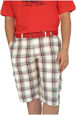 Pantalones, Bermudas, 106445, ROJO
