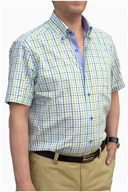 Camisas, Sport Manga Corta, 106474, VERDE