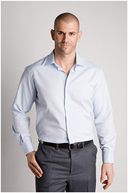 Camisas, Vestir Manga Larga, 106530, CELESTE