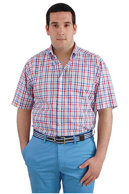 Camisas, Sport Manga Corta, 106569, ROJO