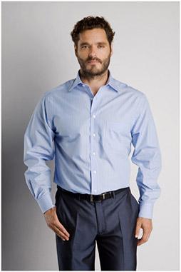Camisas, Vestir Manga Larga, 106570, CELESTE
