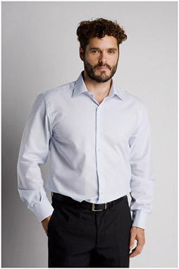 Camisas, Vestir Manga Larga, 106656, CELESTE