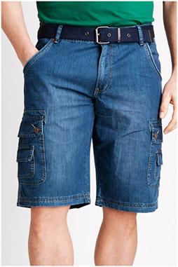 Pantalones, Bermudas, 106835, INDIGO