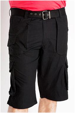 Pantalones, Bermudas, 106840, NEGRO