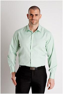 Camisas, Vestir Manga Larga, 106927, VERDE