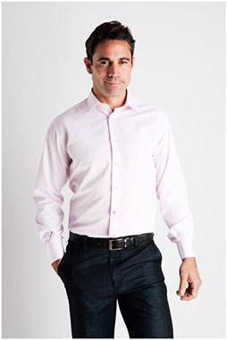 Camisas, Vestir Manga Larga, 106928, ROSA