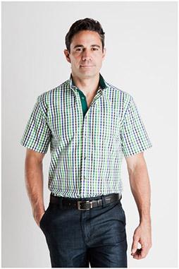 Camisas, Sport Manga Corta, 106932, VERDE