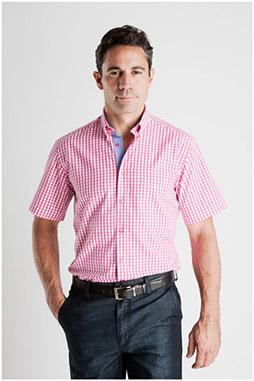 Camisas, Sport Manga Corta, 106935, FUCSIA