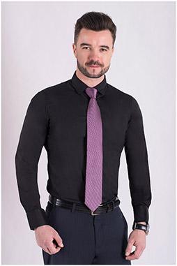 Camisas, Vestir Manga Larga, 106939, NEGRO