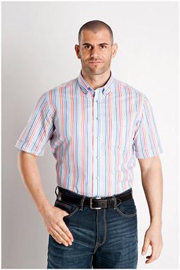 Camisas, Sport Manga Corta, 107009, ROJO