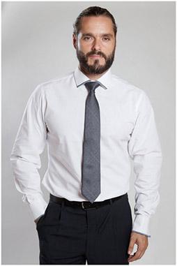 Camisas, Vestir Manga Larga, 107089, BLANCO
