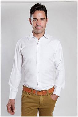 Camisas, Vestir Manga Larga, 107090, BLANCO
