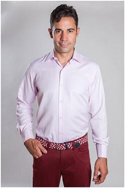 Camisas, Vestir Manga Larga, 107090, ROSA