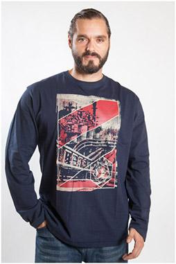 Sport, Camisetas M. Larga, 107092, MARINO