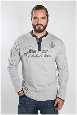 Sport, Camisetas M. Larga, 107096, GRIS MEDIO