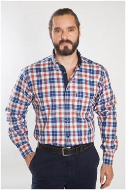 Camisas, Sport Manga Larga, 107109, GRANATE