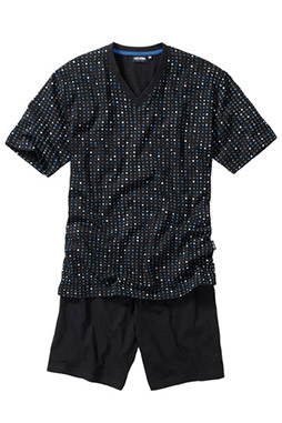 Homewear, Pijama M. Corta, 107112, NEGRO