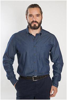 Camisas, Sport Manga Larga, 107247, AZUL