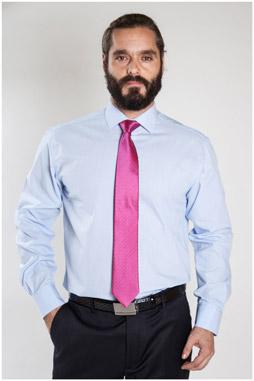 Camisas, Vestir Manga Larga, 107324, CELESTE