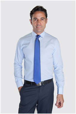 Camisas, Vestir Manga Larga, 107325, CELESTE
