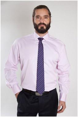 Camisas, Vestir Manga Larga, 107327, ROSA