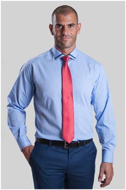 Camisas, Vestir Manga Larga, 107331, CELESTE