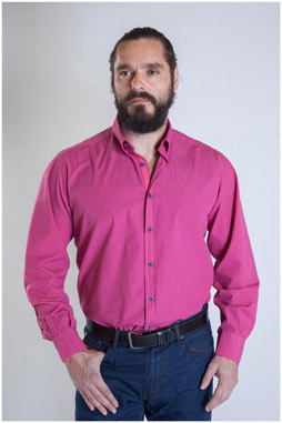 Camisas, Sport Manga Larga, 107339, FUCSIA