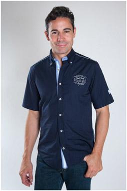 Camisas, Sport Manga Corta, 107470, MARINO
