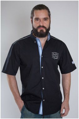 Camisas, Sport Manga Corta, 107470, NEGRO