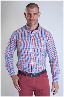 Camisas, Sport Manga Larga, 107482, GRANATE