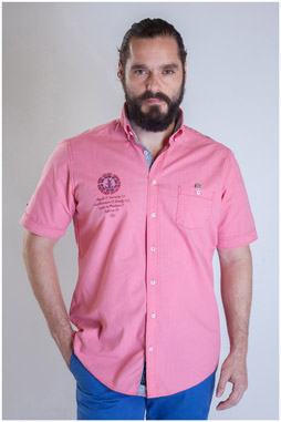 Camisas, Sport Manga Corta, 107488, CORAL