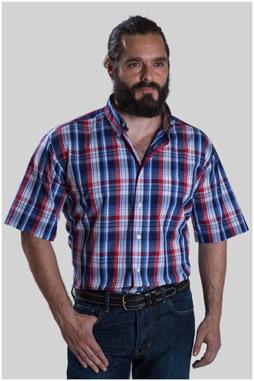 Camisas, Sport Manga Corta, 107623, GRANATE