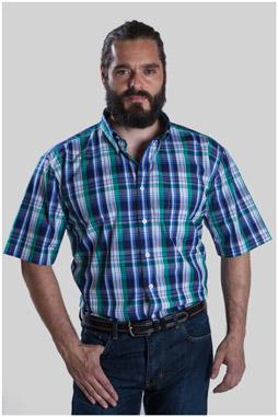 Camisas, Sport Manga Corta, 107623, VERDE