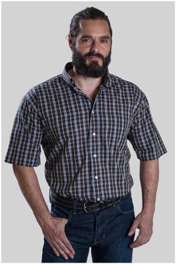 Camisas, Sport Manga Corta, 107624, NEGRO