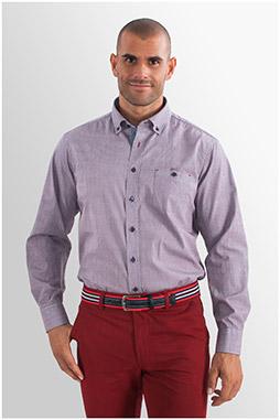 Camisas, Sport Manga Larga, 107702, GRANATE