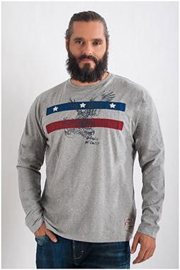 Sport, Camisetas M. Larga, 107730, GRIS MEDIO