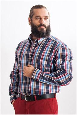 Camisas, Sport Manga Larga, 107779, MARINO