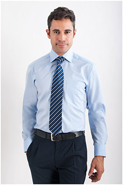 Camisas, Vestir Manga Larga, 107787, CELESTE