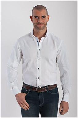 Camisas, Sport Manga Larga, 107789, BLANCO