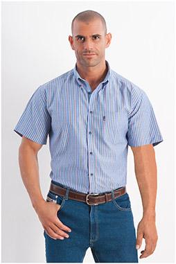 Camisas, Sport Manga Corta, 107806, AZUL