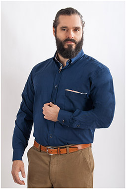 Camisas, Sport Manga Larga, 107810, MARINO