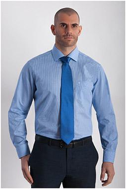 Camisas, Vestir Manga Larga, 107851, CELESTE