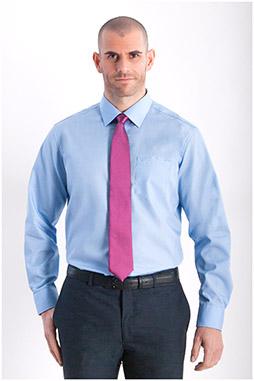 Camisas, Vestir Manga Larga, 107852, CELESTE